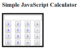 simple javascript calculator code example